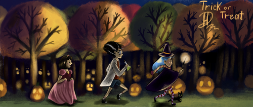 Trick or treat by HelgaDi