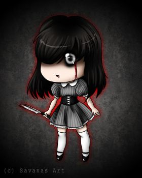 Creepy chibi by SavanasArt