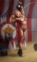 Circus Strongwoman (stage...) by Feael