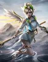Winged Victory Mercy by imDRUNKonTEA