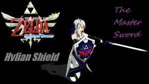 The Hylian Shield and Master Sword - DL by Vocaloid-Sora