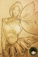 Orianna Drawing - Foreground by FEDsART