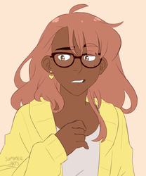 aubrey but w glasses by summer-draws