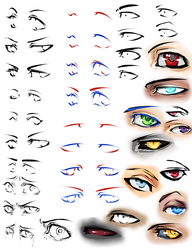 More anime eyes and tips by moni158