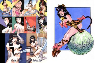 BETTIE PAGE SKETCH CARDS by stalk