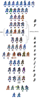 Sprites MegaMan X All Armors 32-BIT (98%completed) by kensuyjin33