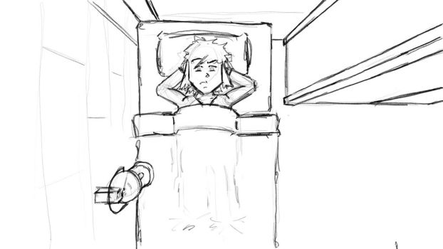 Meager Quest Sketch - Sleepless Night by cheyras