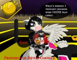 Farmyard Wrestling - Mighty Moo's Headlock by PlayboyVampire