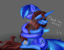 Thank you blue by 11newells