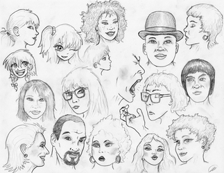 Face Sketches 180502 by TheMightyGorga
