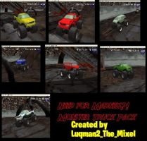 MTM2: Need for Madness Monster Truck Pack by Luqmandeviantart2000