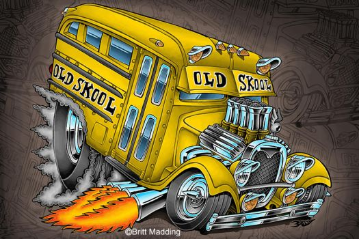 Old Skool Bus by Britt8m