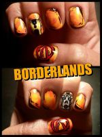 Borderlands Nail Art by mistressling