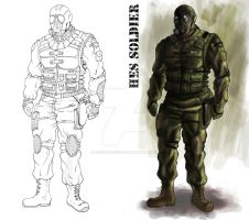 Soldier concept by Predator2104