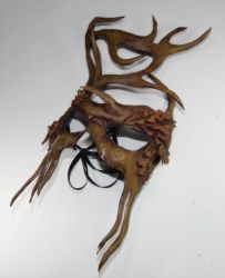 Woodland greenman mask by Shadows-Ink