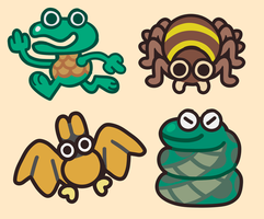 Earthbound Enemies by FlSHB0NES
