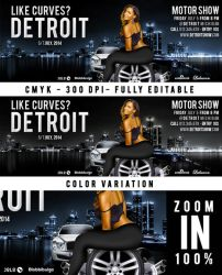 FB Cover Like Curves In Detroit Motor Show by n2n44studio