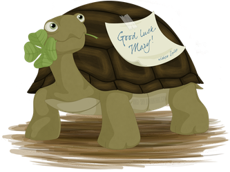 TMNT - Spike wishes good luck by Angi-Shy