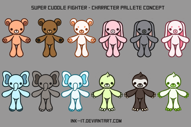 Super Cuddle Fighter - Character Palletes by Ink--It