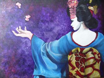 The Cherry Blossom Geisha by CelestialWings13