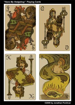 Hans my Hedgehog Playing Cards by PeterAndCompany