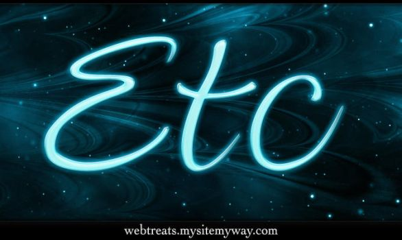 Glowing Light Text Effect by WebTreatsETC