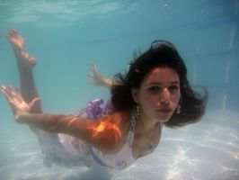 Purple Dress Underwater 1 by Orkiss