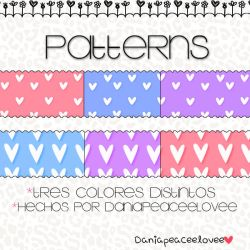 Patterns Para photoshop by DaniaPeaceeLovee