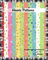 Hearts Patterns Pack II by Coby17
