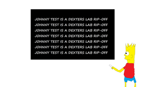 Bart writes about Johnny Test by mippytrippy