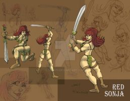 RedSonja Poses and Expressions by Stnk13