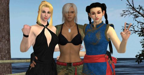Virtua Fighter Girls by Violachanbro