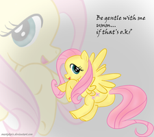 Fluttershy being shy by martybpix