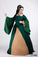 Tudor green court gown by DanielleFiore