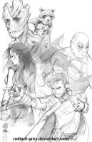 Guardians of the Galaxy - Dance Off by Radiant-Grey