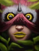 Owl Girl by Hector-Monegro