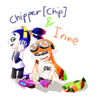 Splatoon_Fan characters: Chip and Irine by Chivi-chivik