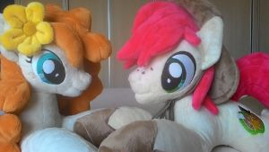 mlp plushies-Bright Mac and Pear Butter by Masha05