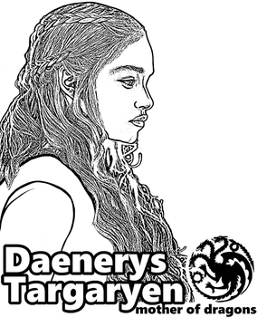 Daenerys Targaryen - Game of Thrones by Topcoloringpages