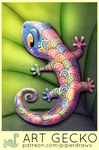Daily Paint 1979# Art Gecko by Cryptid-Creations