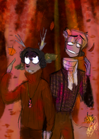 Autumn Boyfriends: Morning Walk by CraftyPoptropican
