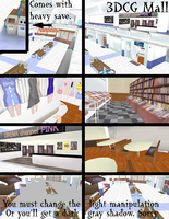 [MMD/3DCG] Mall Stage DL by OniMau619