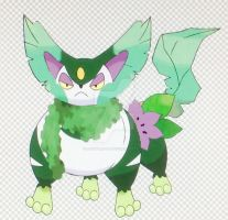 Grass-Type Purugly (Pokemon Type Swap) by Aperture-Cat