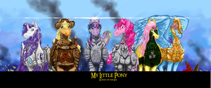 Realistic Mane 6 in armor finally completed by Pwnyville