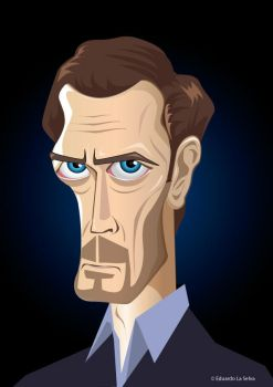 Vector Caricature Hugh Laurie by eduardolaselva
