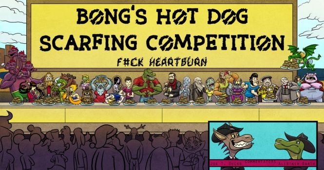 Death Valet Hot Dog Eating Contest by IADM