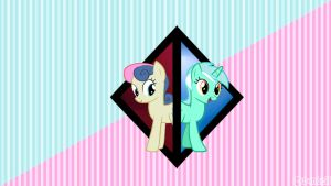 BonBon and Lyra (wallpaper) by Santzii