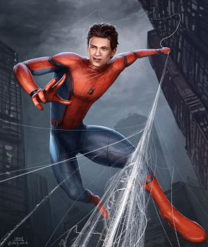 Tom Holland as Spiderman by mcgmark