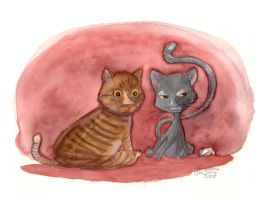 Portrait of Baci and Willy by FrancescaDaSacco