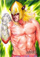 Nuada Sketch Card 2 - Keith O'Malley by Pernastudios